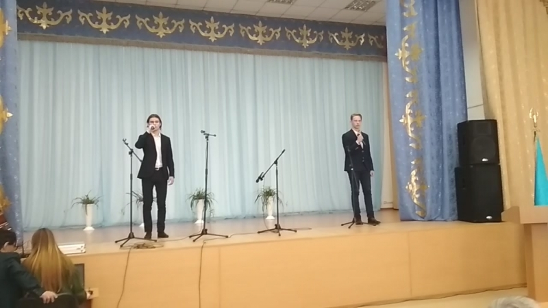 Дунаев Миша и Дёмин Данил 10класс Журавли М Фадеев Гогунский Фестиваль афганской песни Третье место на область