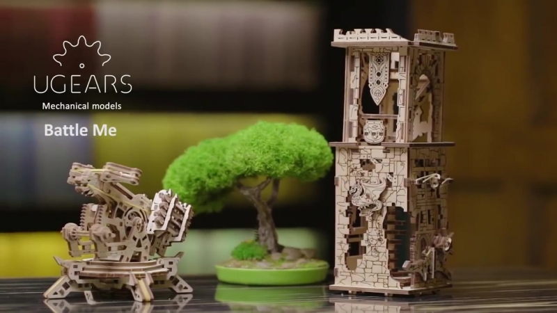 Сборная механическая модель-конструктор Башня-аркбаллиста от UGEARS