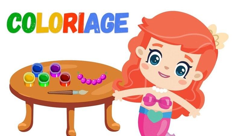 Dessin animé pour enfants. Petite Sirène et ses amis № 8 Coloriage