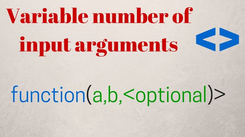 Functions with Variable/Optional number of input arguments-SCILAB