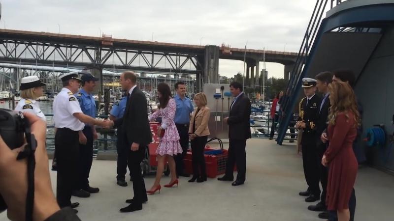 Уильям и Кэтрин в Ванкувере с премьер-министром Трюдо
