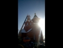 Подъём барабана под купол храма Иоанна Предтечи в с.Угловское в сопровождении звона в московской традиции.