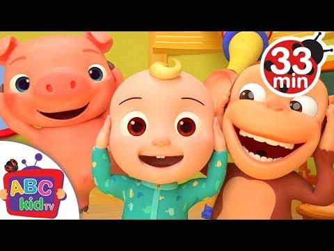 Head Shoulders Knees and Toes   More Nursery Rhymes Kids Songs - ABCkidTV