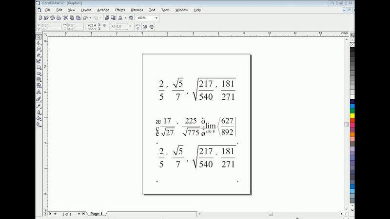 Type Math Equations in CorelDraw