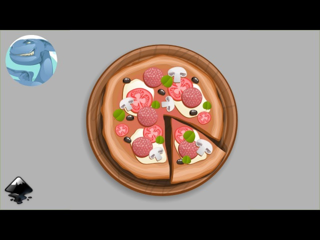 How to draw a pizza in Inkscape