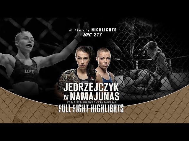 Joanna Jedrzejczyk v Rose Namajunas FULL FIGHT Highlights BIG KO