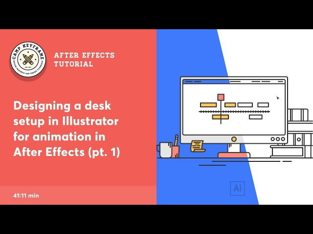 Illustrator Tutorial - Designing a Desktop setup for After Effects