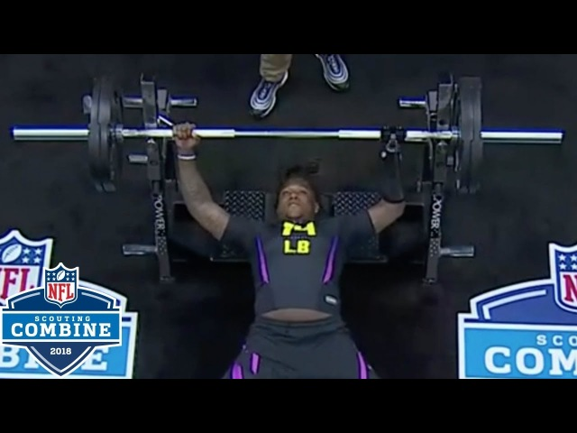 Shaquem Griffin's Bench Press with Prosthetic Hand 2018 NFL Combine Highlights