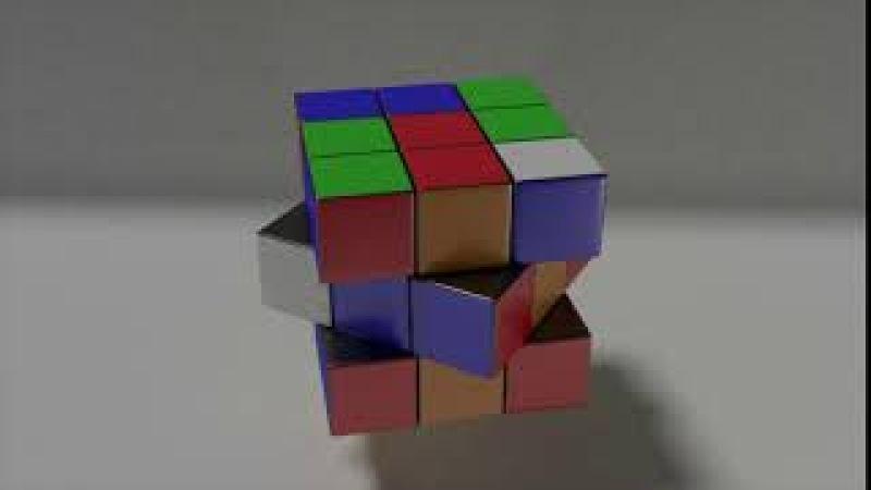 Анимация кубика Рубика в Blender3D