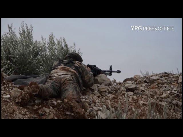 Efrîn - Operasyona rizgarkirina gundê Hemamê ji çeteyên dewleta dagirker.