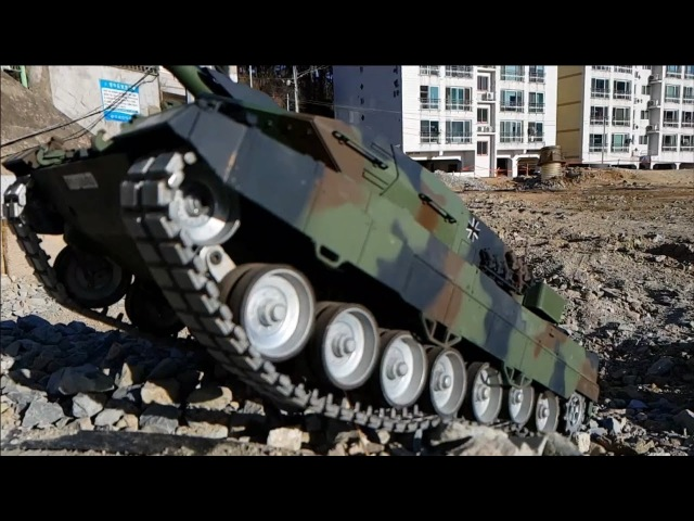 RC TANK 1/16 Heng Long 3889-1 Leopard 2A6 Blue Motor Upgrade