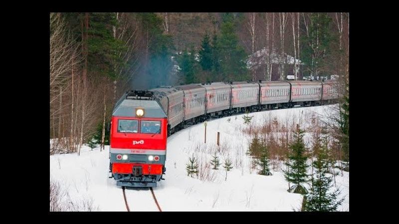 ТЭП70БС 235 с агитпоездом ЛДПР Карелия TEP70BS 235 RZD LDPR Karelia