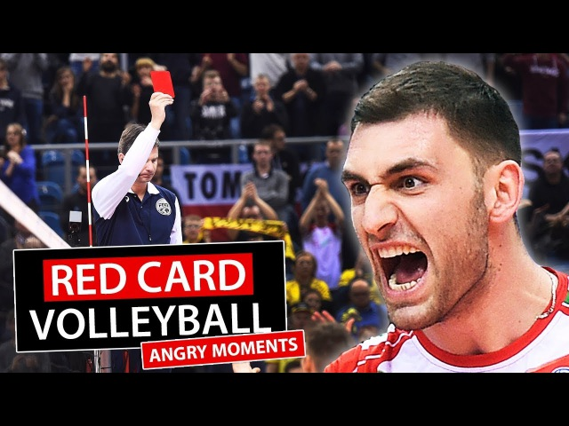 Red Card in Volleyball \ Angry Moments