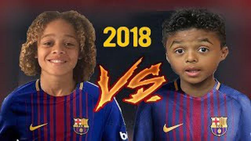 Xavi Simons VS Shane Kluivert 2018 ● future of Barcelona ● HD