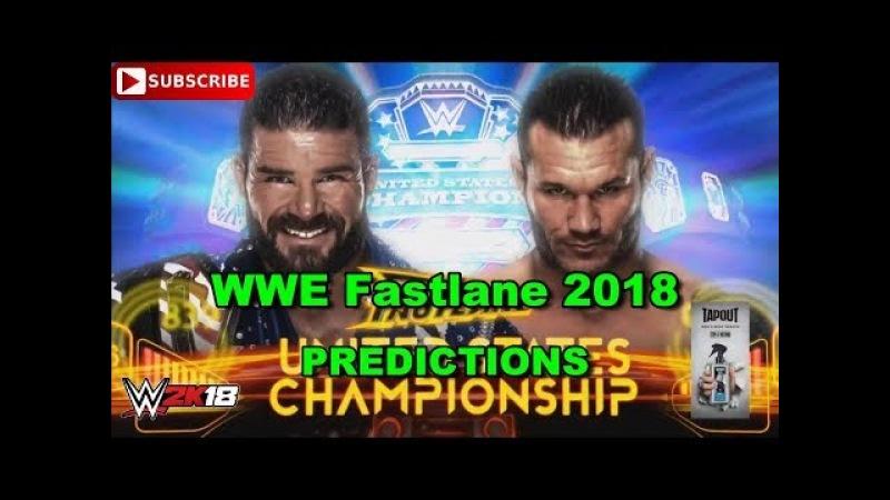 WWE Fastlane 2018 United States Championship Bobby Roode vs. Randy Orton Predictions WWE 2K18