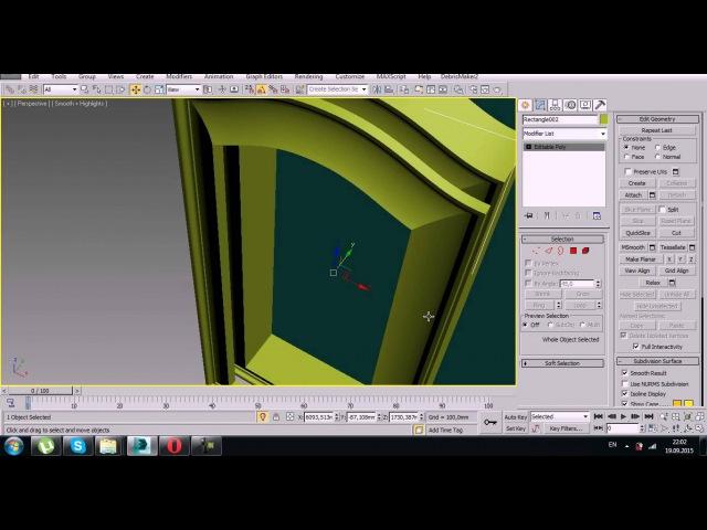 Урок 3D Max. Фасад кухонный в 3d max. Прямой и гнутый. Часть 2. Проект Ильи Изотова.