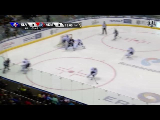 Моменты из матчей КХЛ сезона 16/17 • Слован - Адмирал. Лучшие моменты третьего периода 28.11