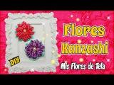 Flor Kanzashi Tutorial para Prendedores Diademas Paso a Paso DIY
