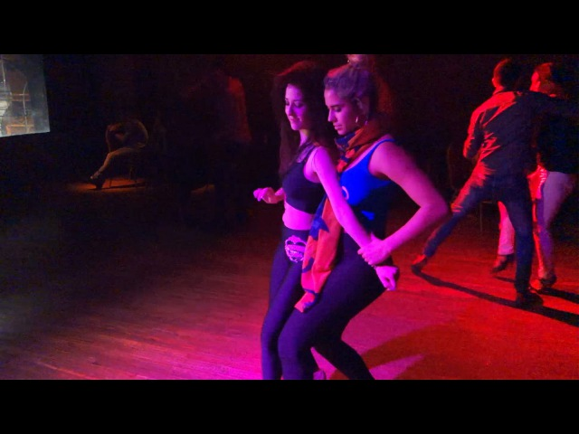 Jazmin Rodriguez and Stephanie Lucero at the Bachata Dolls Social (Buenos Aires)