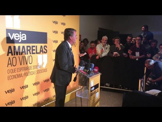 Coletiva de imprensa de Jair Bolsonaro após entrevista da Veja (27/11/17)