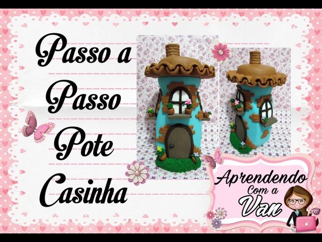 (DIY) Pote Decorado Fairy House (Casa de Fadas) MARATONA POTES 8
