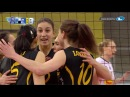 Lonneke Sloetjes puts up a block that can not be passed CLVolleyW