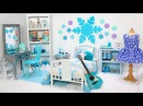 Doll Bedroom for Disney Frozen Elsa Play with dolls furniture toys Princess dollhouse room