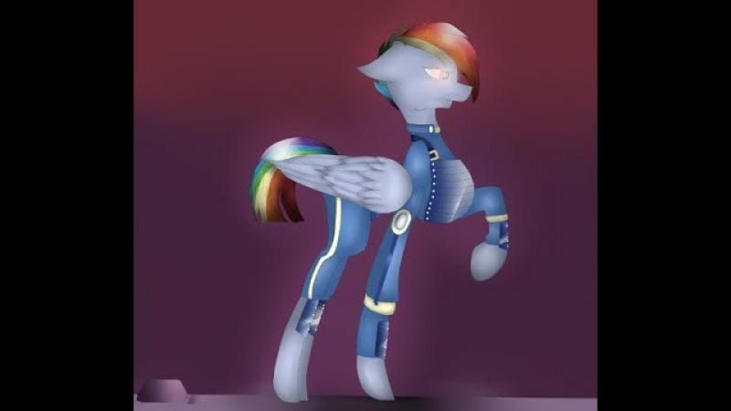 [Speedpaint MLP] Rainbow Dash the warrior