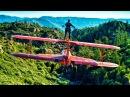 Wing Walker Jumps from Airplane Wing Walking Stunts in 4K