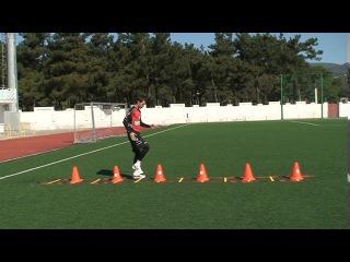Football coaching video - soccer drill - ladder coordination (Brazil) 9