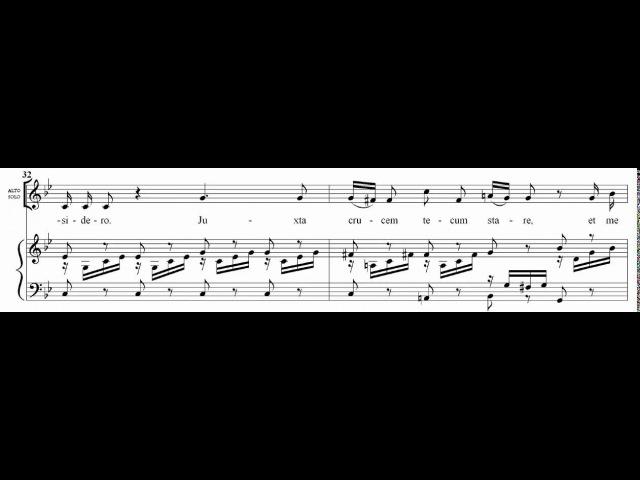 9.- Fac me vere tecum flere (Stabat Mater - J. Haydn) Score Animation
