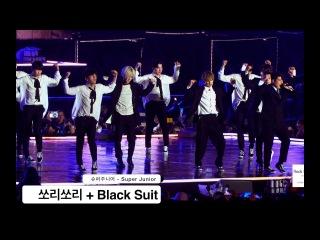 Super Junior[4K] Black Suit + Sorry sorry@180224