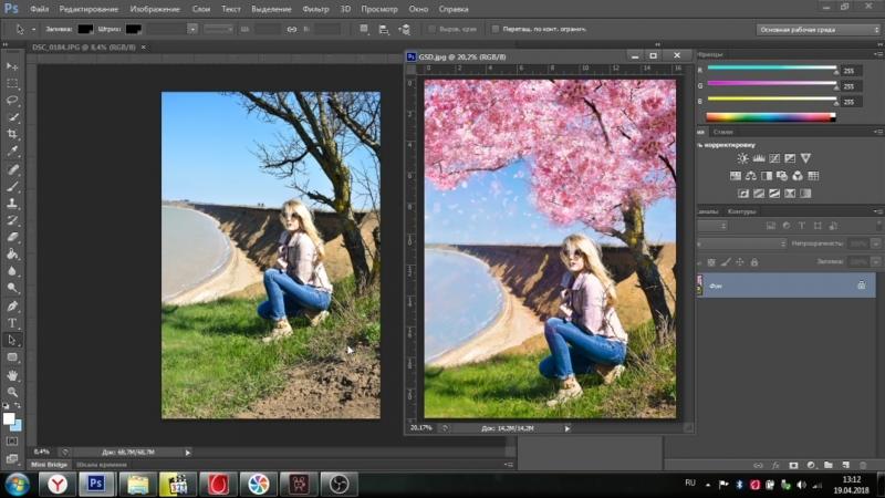 Обработка в PHOTOSHOP CS6 before|after