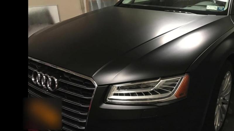 Satin Black Audi A8