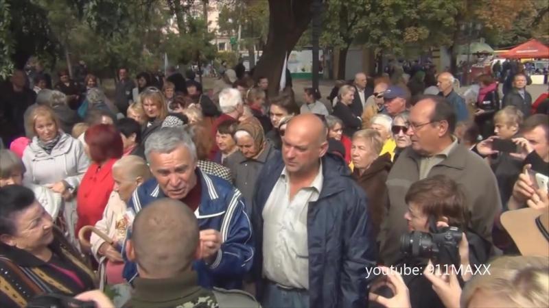 Одесса 27 сентября 2014 Митинг за мир от антимайдана Возрождение Одессы