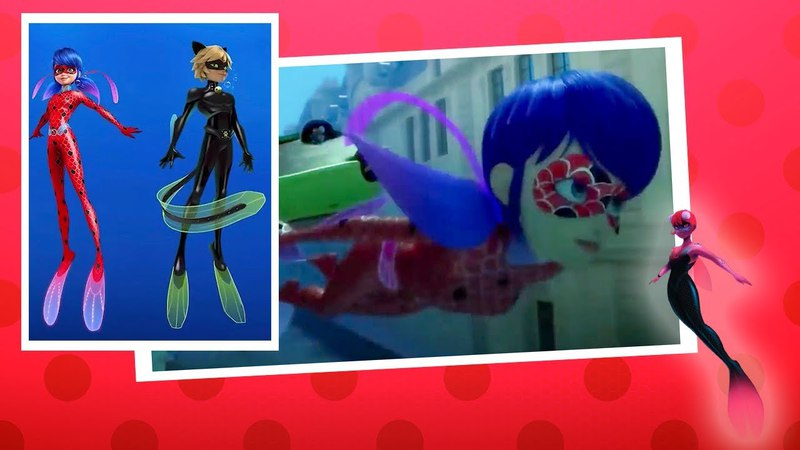 First look at Syren and new water transformation of Ladybug and Cat Noir