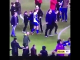 Aügero lost the plot last night after being teased by a Wigan Athletic pitch invader.