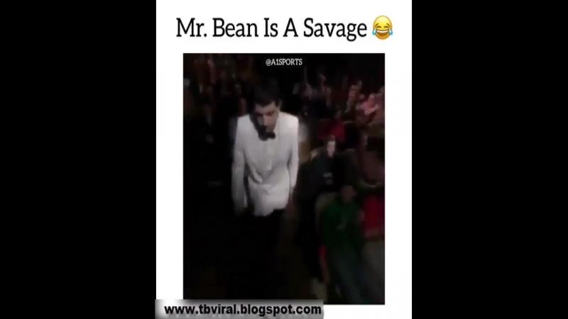 Mr.bean is a savage