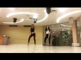Salsa, footwork - Kseniya Serechenko & Valeriya Kataikina