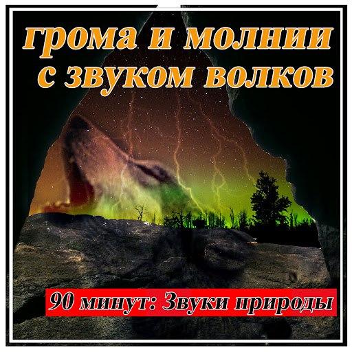 Звуки Природы альбом грома и молнии с звуком волков: 90 минут: Звуки природы