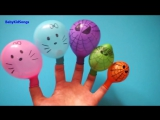 Colors Wet Balloons Compilation _ 15 Minutes Learn colours Balloon _ TOP Finger Family Kids