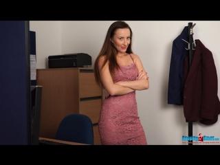 Sophia Smith - Office Party Slut (striptease, erotica, lingerie, girl, hairy pussy, dance, nude, naked, solo)