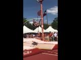 mondo duplantis with the new Junior world record 5.92