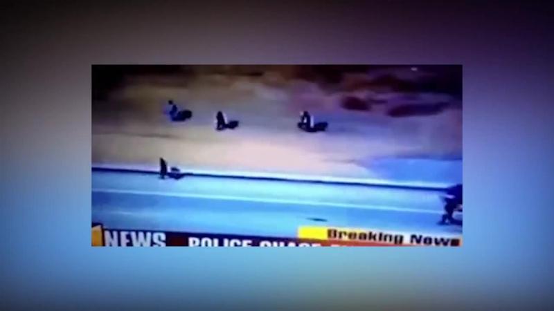 Мент бежит за преступником