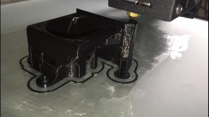 Печать улучшенного обдува для принтера