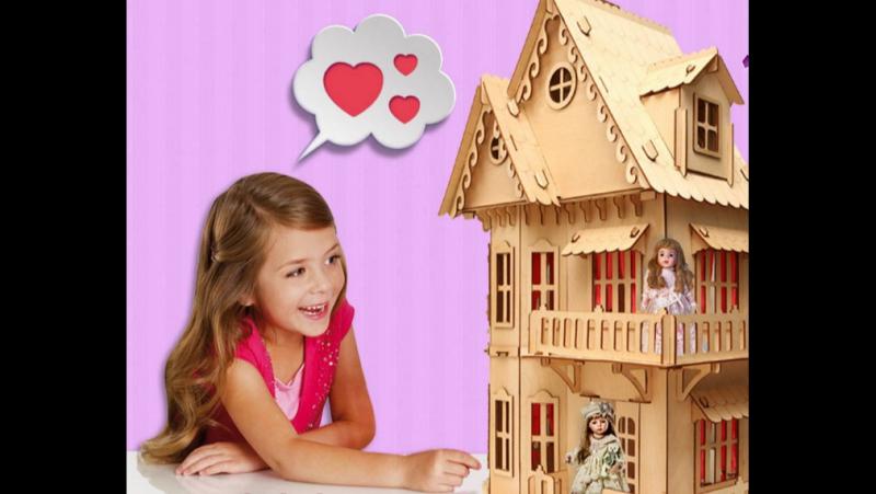 Собираем чудо дом с мебелью⁄Большой кукольный домик