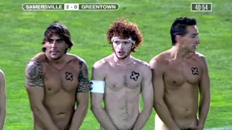 Football team nudists