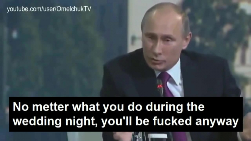 Putin to merkel No metter what you do, you will be fucked anyway