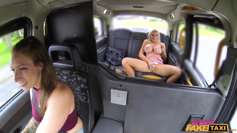 Sophie Anderson, Ava Austen ( Busty blondes hot lesbian taxi fuck) Lesbian, Big Tits, British, Licking, Car