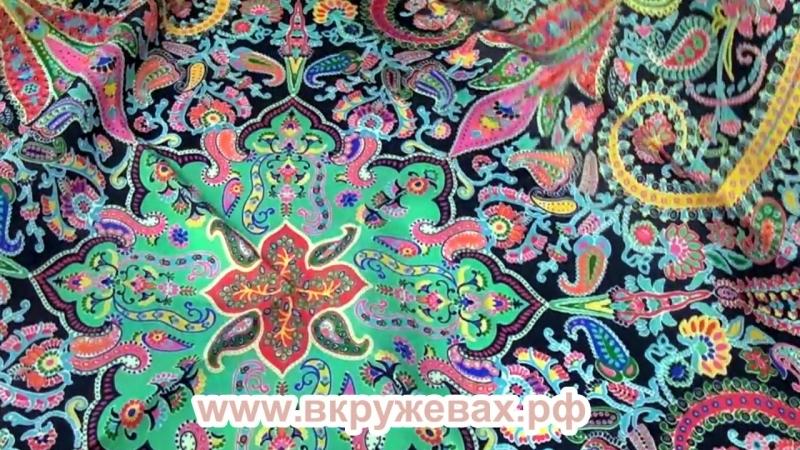 Классический шелковый платок Farfalle Paisley Roeckl